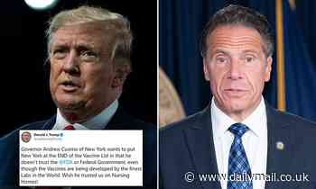 Trump slams Cuomo for putting NY at the 'end of the vaccine line' because he doesn't trust the FDA