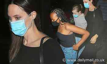 Angelina Jolie treats her daughters Zahara and Vivienne to a dinner on National Daughters Day