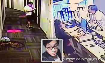 Bo 'Nick' Zhao: CCTV reveals the final moments of a car dealer found dead in a hotel room