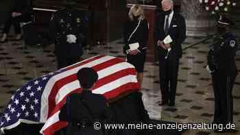 Bader Ginsburg wird seltene Ehre gewährt - Politiker verabschieden sich im Kapitol von verstorbener Richterin
