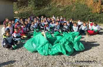 Saint-Maurice-de-Lignon : les écoliers du Sacré-Coeur nettoient la nature - La Commère 43