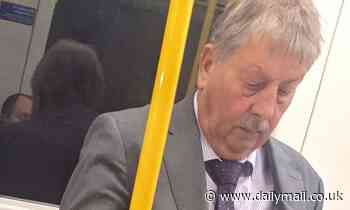 DUP's Sammy Wilson is branded a 'disgrace after he was seen on Tube without a mask