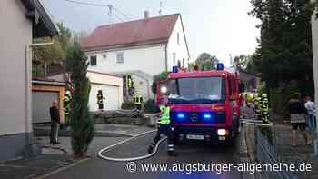 Einsatz unter Atemschutz: Feuerwehr löscht Brand in Kettershausen - Augsburger Allgemeine