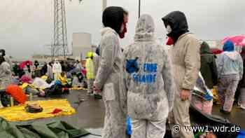 Umweltschützer protestieren im Rheinischen Braunkohle-Revier
