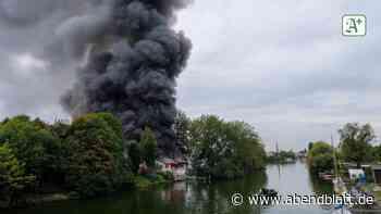 Billbrook: Nächster Großbrand in Hamburg: Autowerkstatt in Flammen