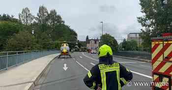 Wohnungsbrand in Herford: Hubschrauber ist im Einsatz - Neue Westfälische