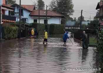 Forte temporale su Laveno Mombello, le strade diventano fiumi - Varesenews