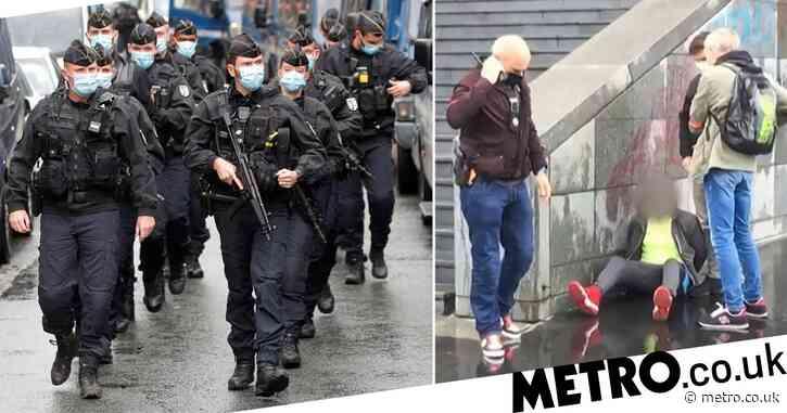 Seven arrested over Paris knife attack outside former Charlie Hebdo offices