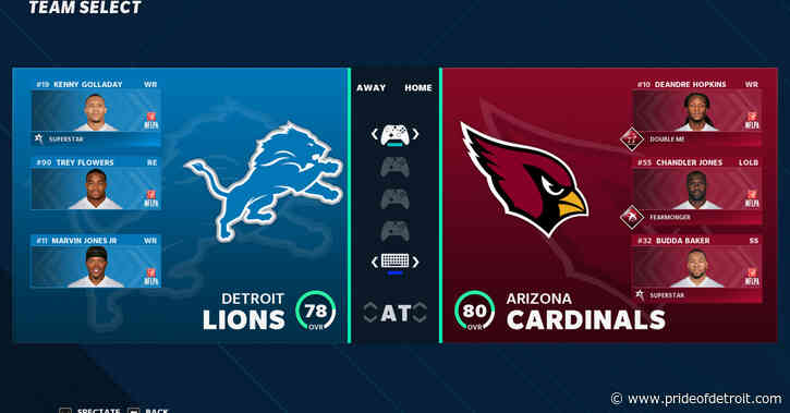WATCH LIVE: Lions vs. Cardinals Week 3 Madden simulation