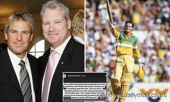 Shane Warne reveals final message Dean Jones sent to him before cricket great died of a heart attack