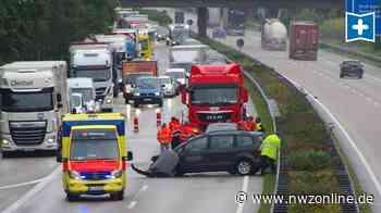Unfall auf der A1 bei Wildeshausen: 19-Jähriger schwer verletzt - Nordwest-Zeitung