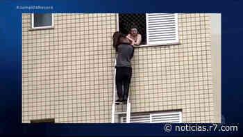 Mecânico usa escada para salvar crianças durante incêndio dentro de apartamento em Belo Horizonte - HORA 7