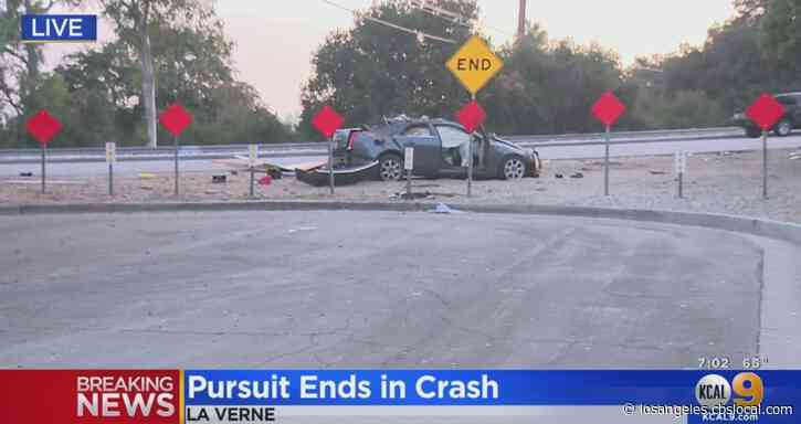 2 Hospitalized After Police Pursuit Ends In Violent Crash In La Verne