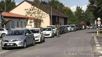 Hochbetrieb an der Corona-Teststation in Heustreu - Main-Post