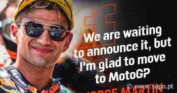 Moto2, Barcelona: Martin confirma salto para o MotoGP em 2021 - LUSA