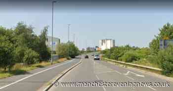 Motorcyclist left with serious injuries following crash in Salford