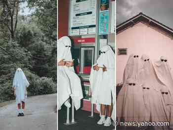 TikTokers are being called out for a 'ghost photoshoot' trend that critics say reminds them of KKK robes