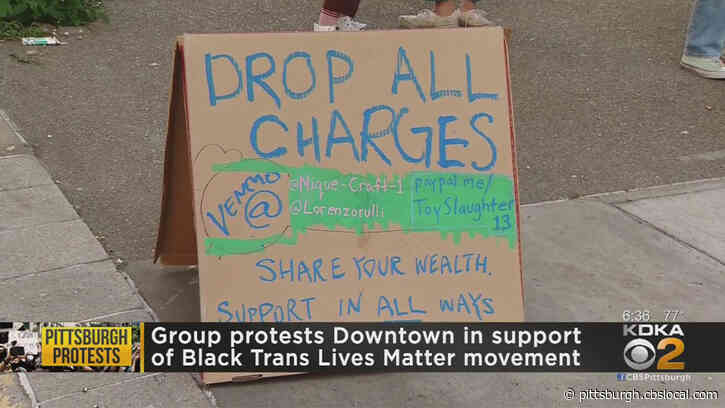 Supporters Of Black Trans Lives Matter Movement Protest Outside Of Pittsburgh Municipal Court