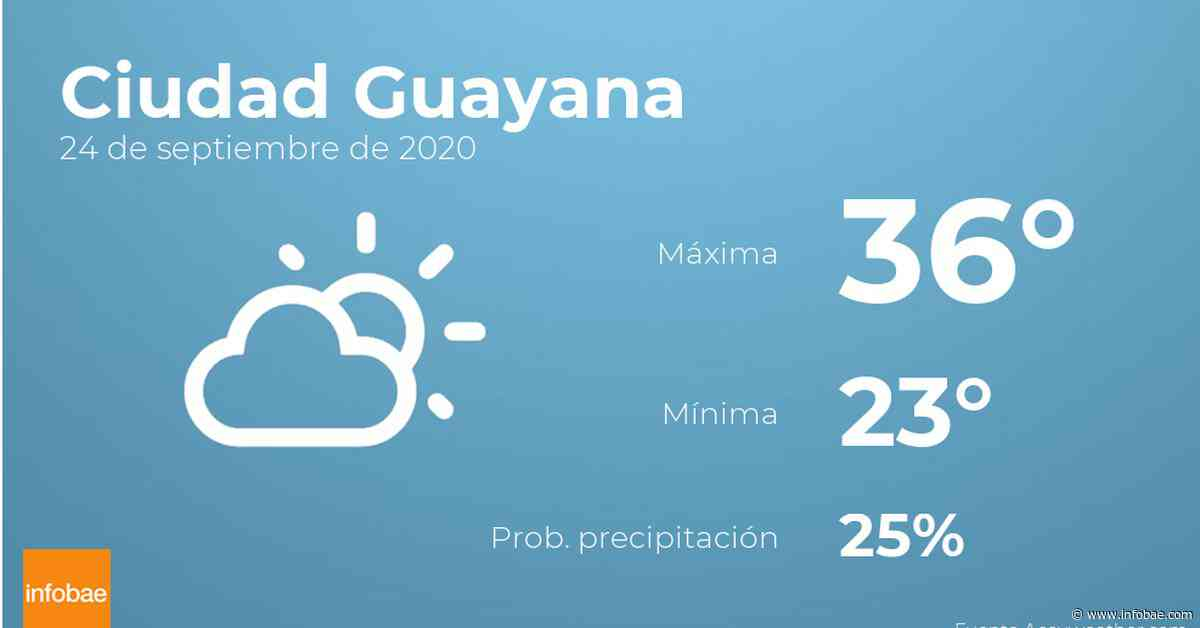 Previsión meteorológica: El tiempo hoy en Ciudad Guayana, 24 de septiembre - Infobae.com