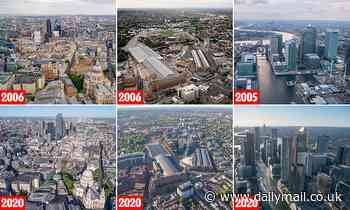 London then - and now: Amazing Jason Hawkes aerial photos document the UK capital's amazing growth - Daily Mail