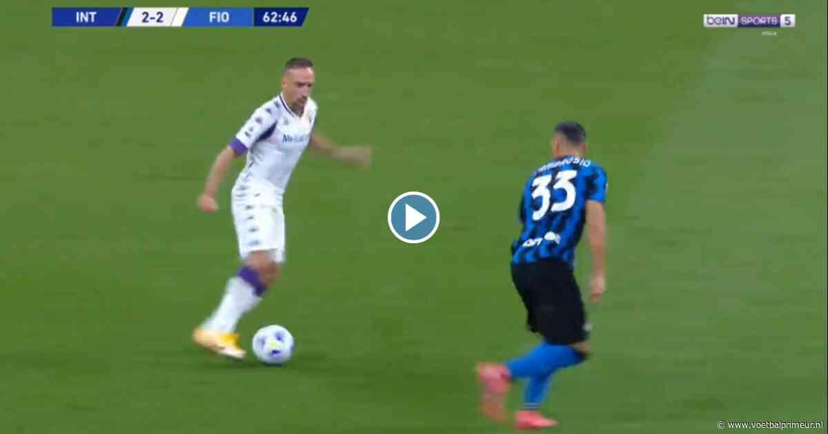 Ribéry (37) dartelt als in zijn beste jaren en geeft geniale splijtende steekpass