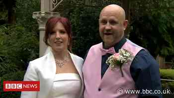 Couple bring forward Shropshire wedding to beat guest rules - BBC News