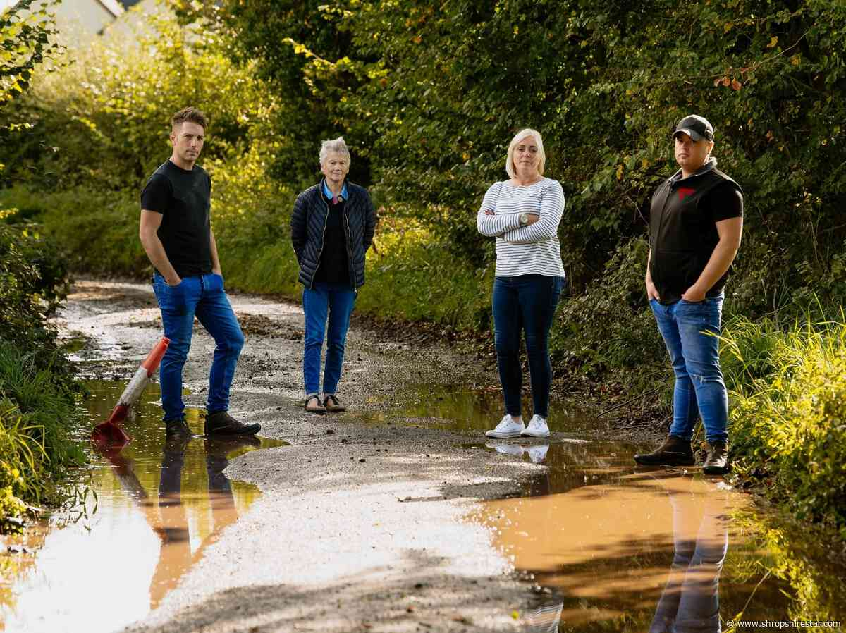 'Horrendous' Shropshire road surface still cracked and flooded one year on - shropshirestar.com