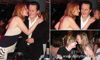 Sasha Swire drapes her arm over David Cameron's shoulder and whispers in his ear in 2006 pictures
