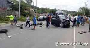 Accidente en la vía Tosagua deja a dos personas heridas   El Diario Ecuador - El Diario Ecuador