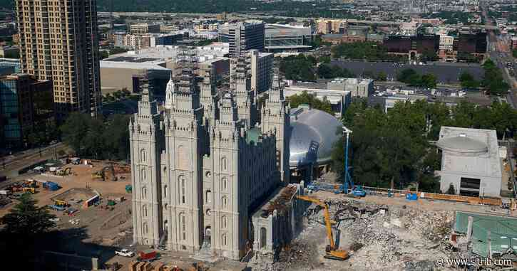 Check out renovation progress at the Salt Lake City Temple