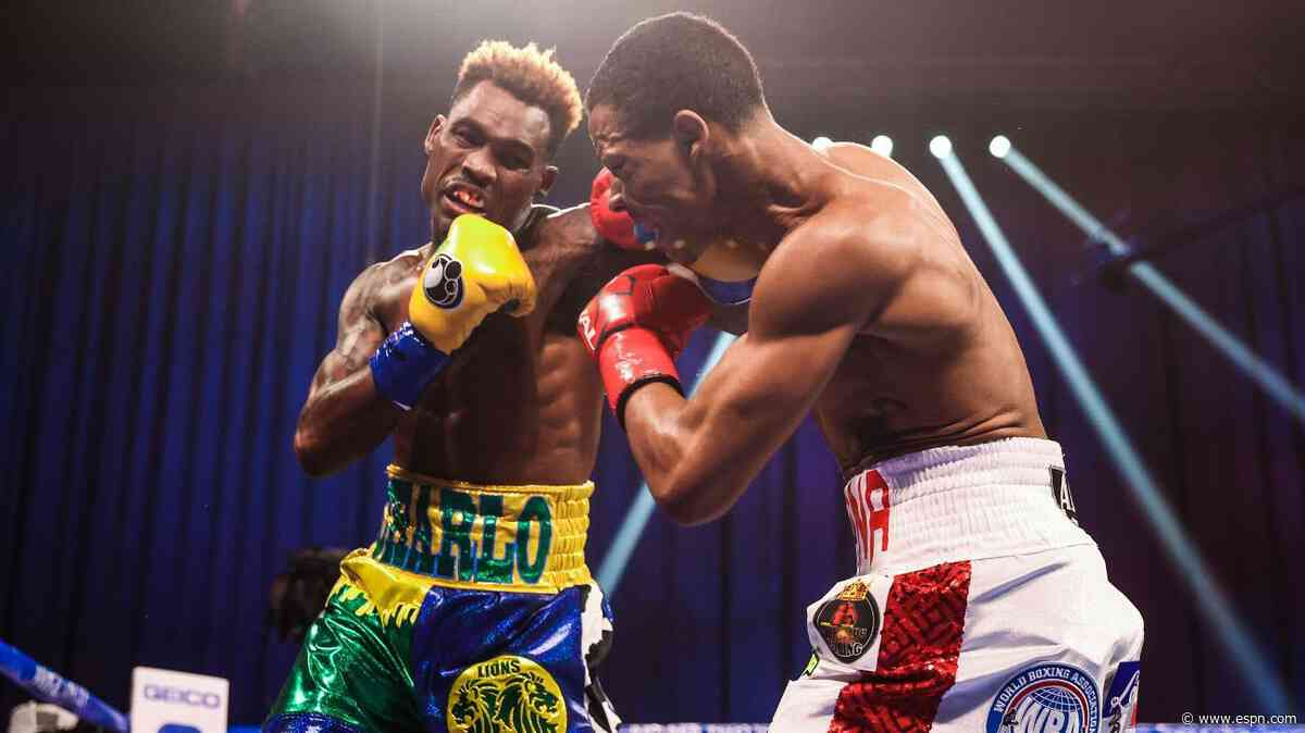Jermell Charlo KOs Rosario to unify 3 world titles