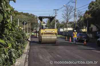 Rua Mateus Leme conta com asfalto novo - mobilidadecuritiba.com.br