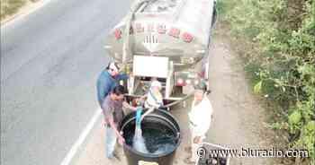 Por intensa sequía transportan agua en carrotanques al municipio de Aratoca - Blu Radio