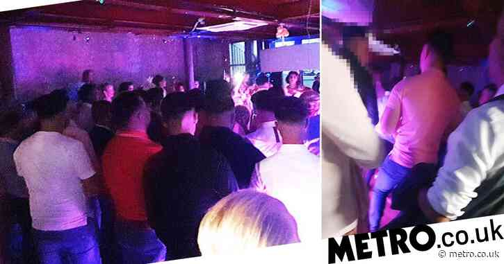 'Wedding reception' shut down as police raid restaurant 'crammed with people'