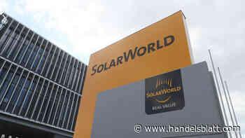Solarworld: Ein Pleitier wagt den Neustart - Handelsblatt