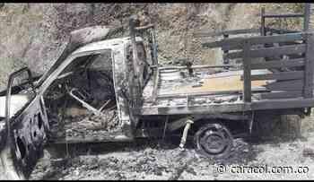 Vehículo fue incinerado en Tarqui, Huila - Caracol Radio