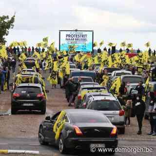 Vlaams Belang houdt protestrit in Brussel, met 5.000 auto's: 'Een ongelooflijk succes'