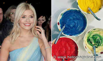 Holly Willoughby wows fans with her homemade rainbow cake