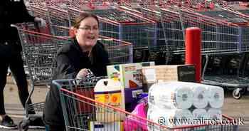 Panic buying continues at Tesco, Asda and Sainsbury's despite product rationing