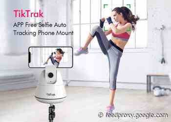 TikTrak auto tracking phone stand and mount