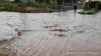Corcolle, danni da maltempo: si allaga il ponte di via Matelica