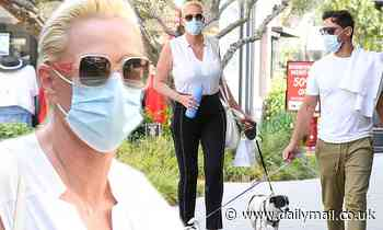Brigitte Nielsen and husband Mattia Dessi enjoy a parents' day out