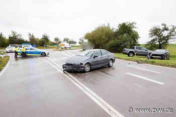 Schwerer Unfall zwischen Backnang und Weissach im Tal: Auto kommt am Kreisverkehr ins Schleudern - zwei Verletzte - Blaulicht - Zeitungsverlag Waiblingen