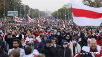 100,000 march in Belarus capital on 50th day of protests against president