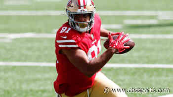 49ers' Jordan Reed goes down with ankle injury at Giants' MetLife Stadium, but returns to game