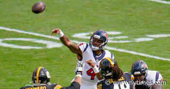 N.F.L. Week 3: Texans and Steelers Trade TDs in Shootout