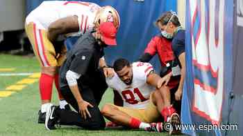 TE Reed, CB Moseley latest injured for 49ers
