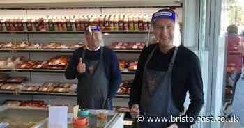 Corrie stars work three hour shift at Somerset butchers