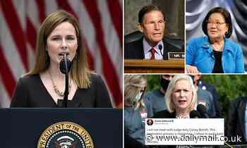 'I refuse to participate': Three Democratic senators decline meeting with Amy Coney Barrett