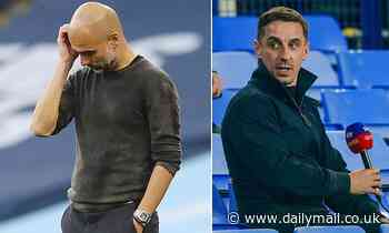 Gary Neville says Pep Guardiola faces 'one of his biggest jobs in football' to reclaim the title